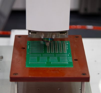 circuit board being stamped