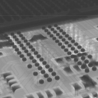 close up of x-ray image