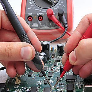 using an ohm meter on a circuit board