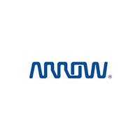 arrow electronics logo, blue text