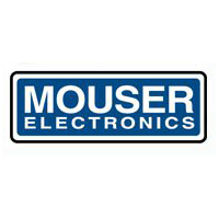 mouser electronics logo with blue background