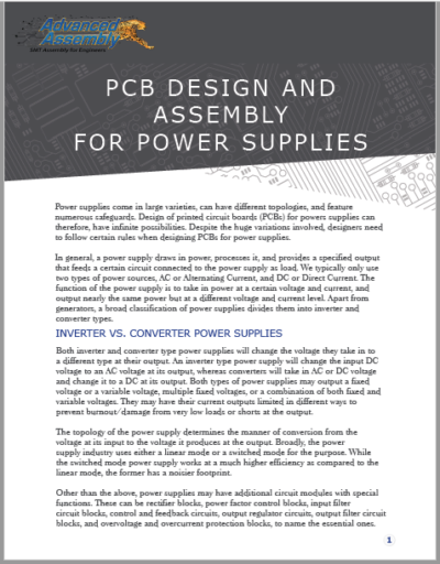 Design & Assembly for Power Supplies | Advanced Assembly
