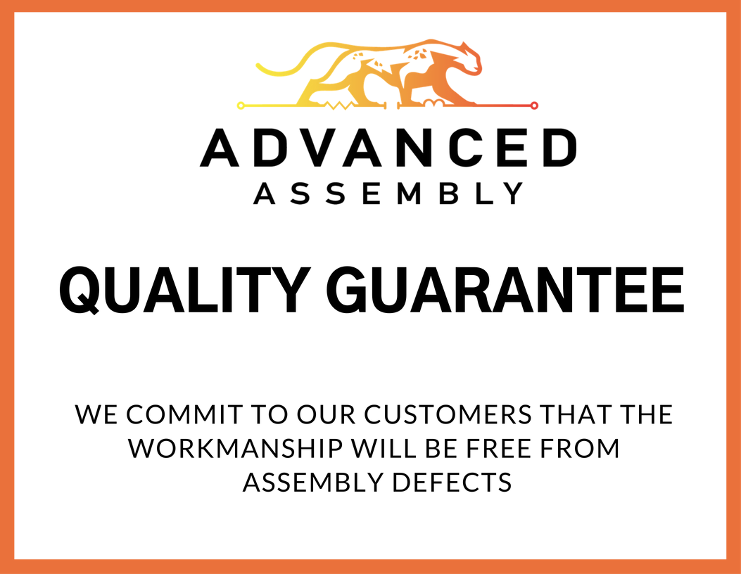 Advanced Assembly certificate of quality
